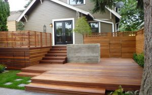 landscaping deck layout