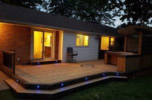 Landscaping lawns decks